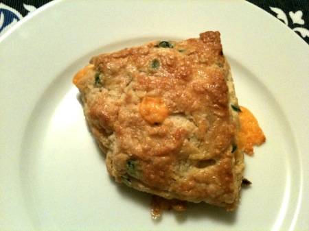 Jalapeno and Cheddar Scone. Yum!